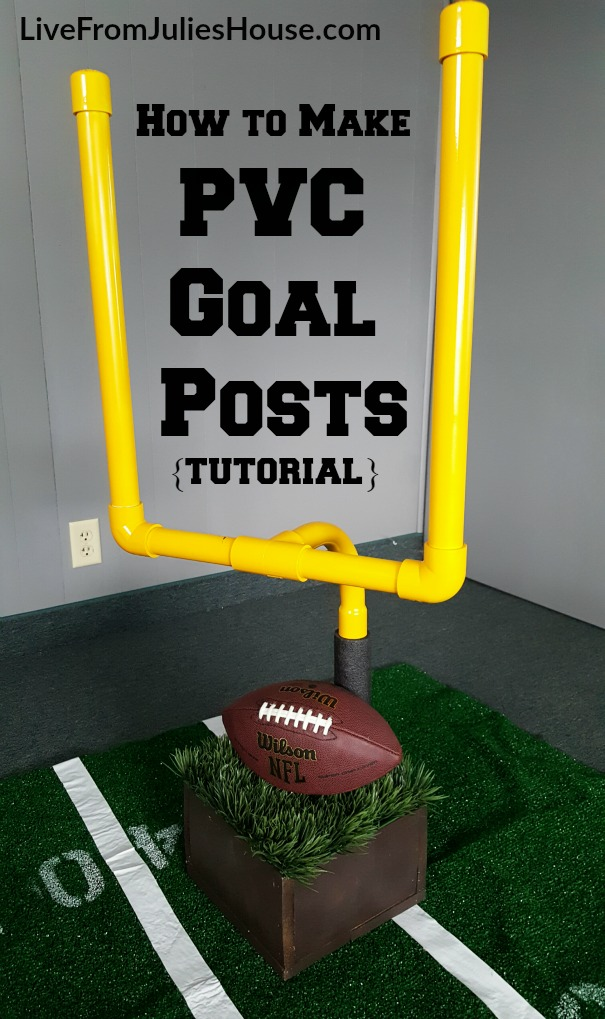 how to make a football goal out of pvc pipe